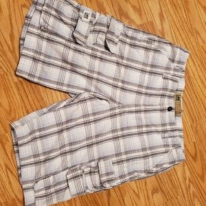 Lee Dungaree cargo shorts.